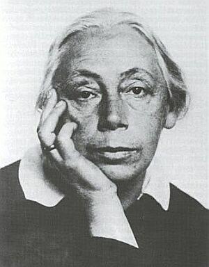 Schwarz Weiß Foto von Fr. Kollwitz.
