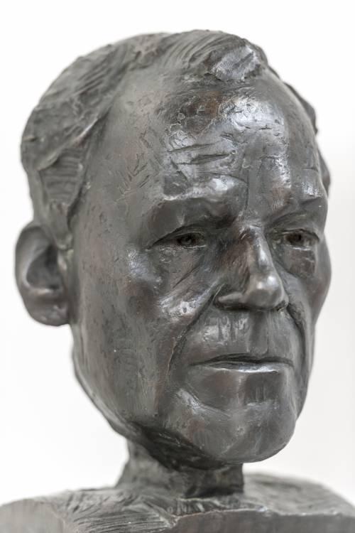 Büste von Willy Brandt.