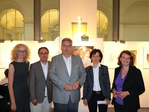 Gruppenfoto von Angelika Vahnenbruck, Sven Kirschke, Ralf Wieland, Dr. Franziska Polanski und Barbara König