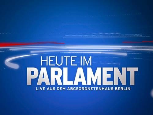 "Grafik mit Text ""Heute im Parlament - Live aus dem Abgeordnetenhaus Berlin"""