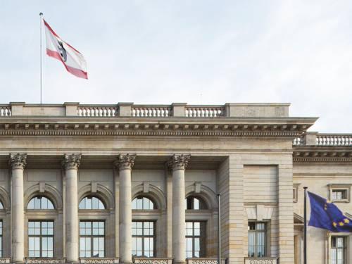 Teil der Fassade des Abgeordnetenhaus Berlin