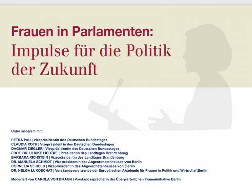 "Grafik zur Veranstaltung ""Frauen in Parlamenten"""