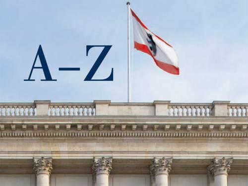 """Das Dach des Abgeordnetenhaus mit Berliner Flagge. Links daneben steht """"A-Z""""."""